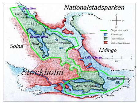 A városi nemzeti park térképe