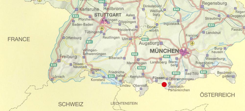 bajorország térkép A bajor Karwendel és Mittenwald – Csámborgó bajorország térkép