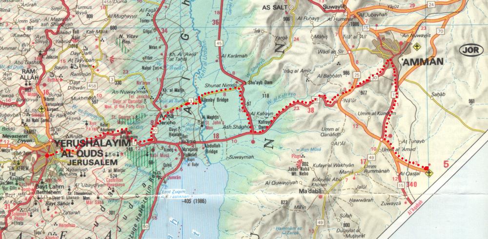 Utunk az ammani reptérről Jeruzsálembe