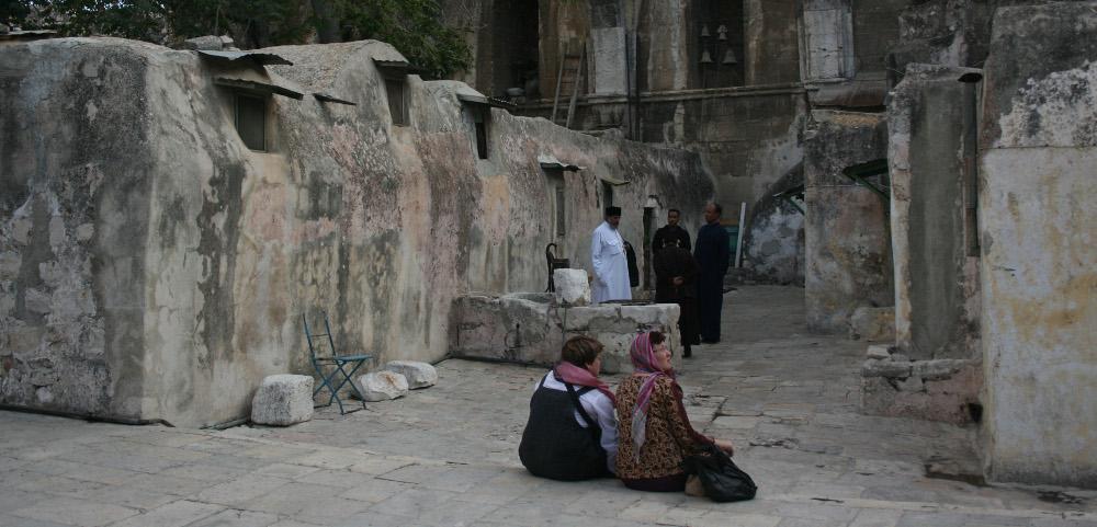 Szent Sír bazilika - etióp szerzetesek (1)