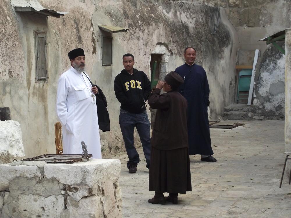 Szent Sír bazilika - etióp szerzetesek (2)