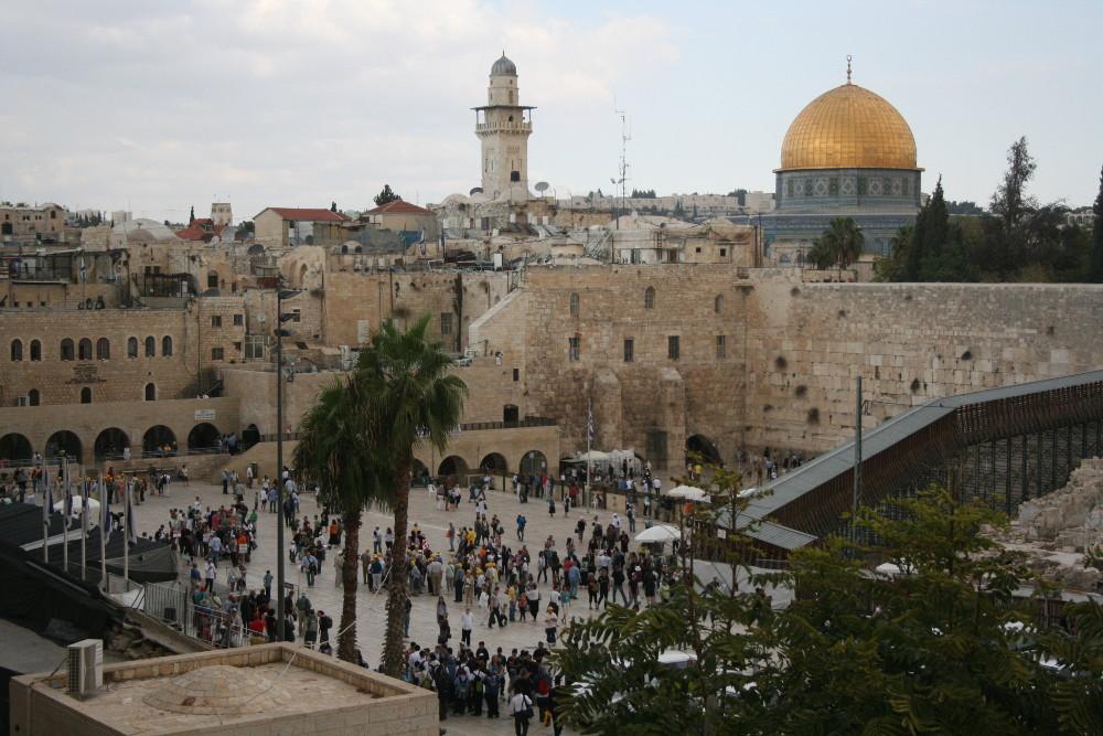 Templom-hegy és a Siratófal