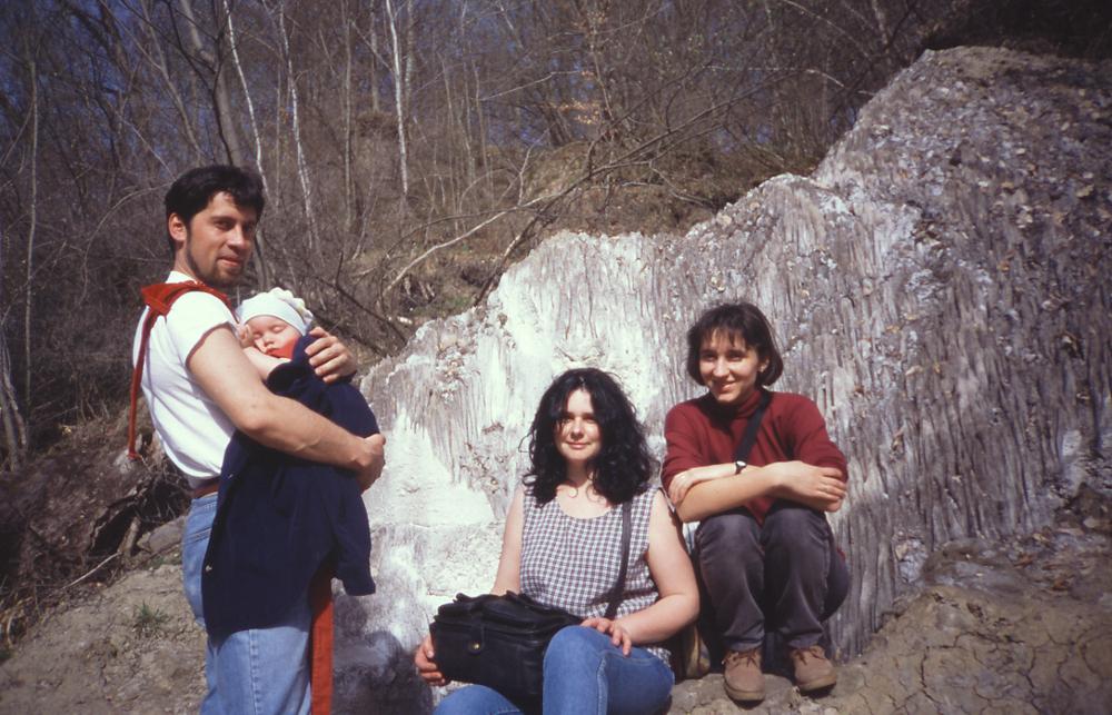 2000 áprilisában a sószikláknál - Fotó: Barna Béla