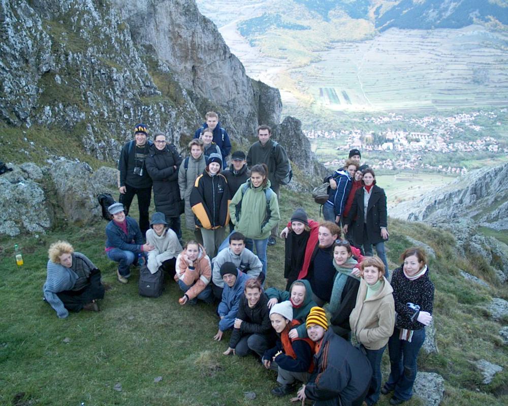 Tanítványaim a Székelykőn 2003-ban - Fotó: Barna Béla