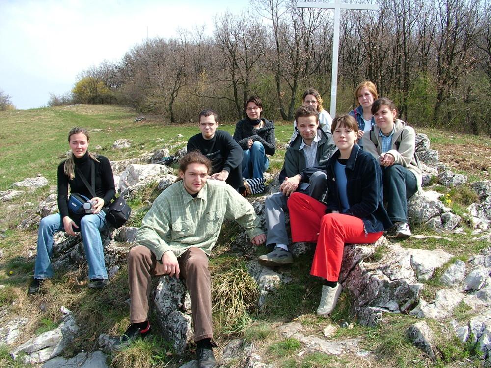 Egri főiskolások 2005-ben az Egeden - Fotó: Barna Béla