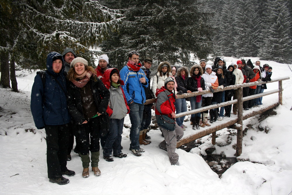 Egri főiskolásokkal 2010. február7-én