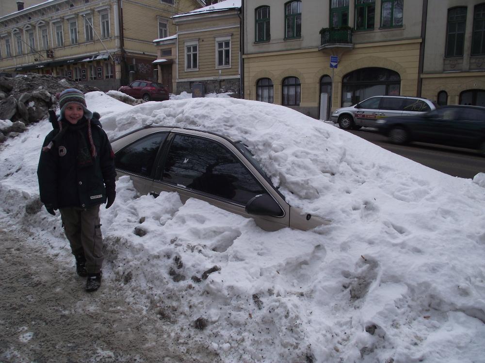 Behavazott kocsi Turkuban