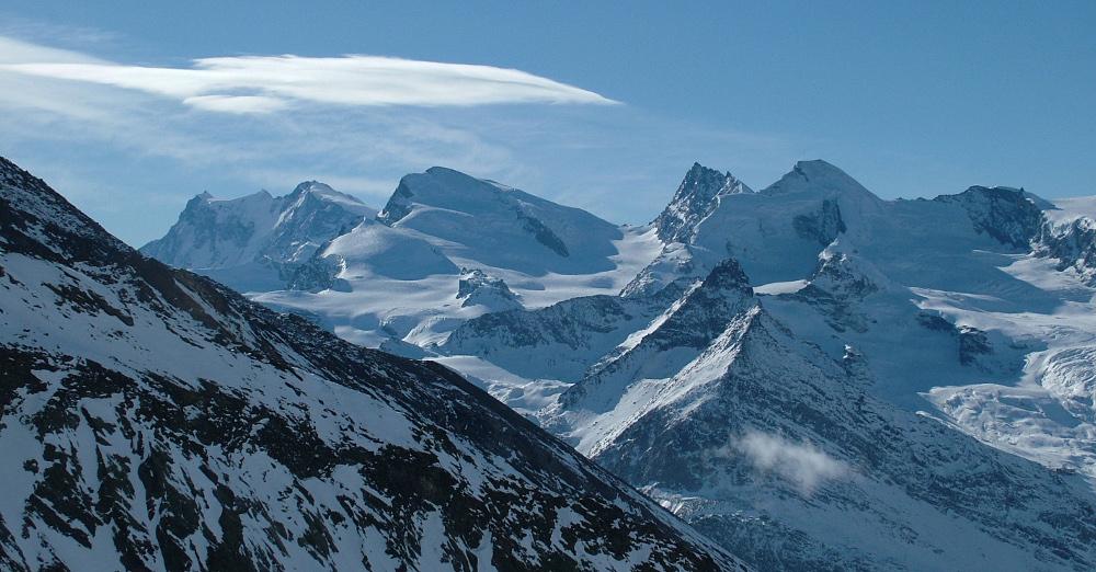 A Monte Rosa a Hochsaasról - Fotó: Barna Béla