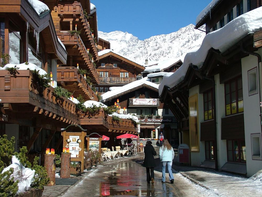 SaasFee az Alpok gyöngye - Fotó: Barna Béla