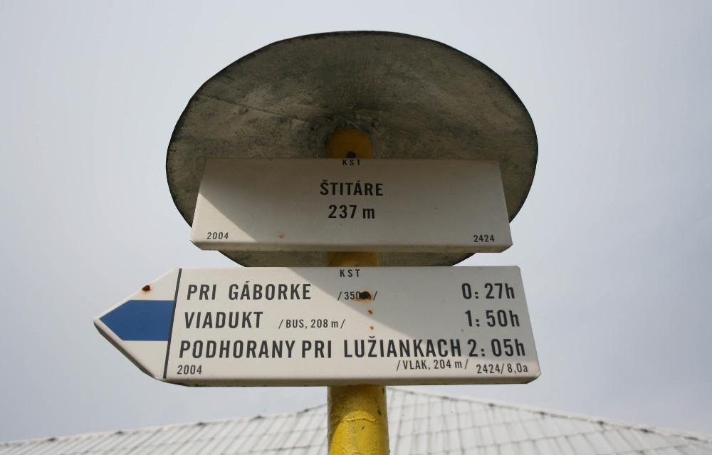 A csitári kék jelzés - Fotó: Barna Béla