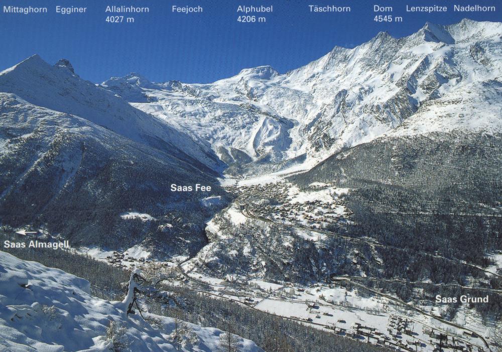 Egy képeslap a hegycsúcsok nevével