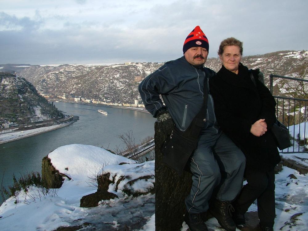 Szüleim a Loreleynál, Németországban 2005. december 31-én