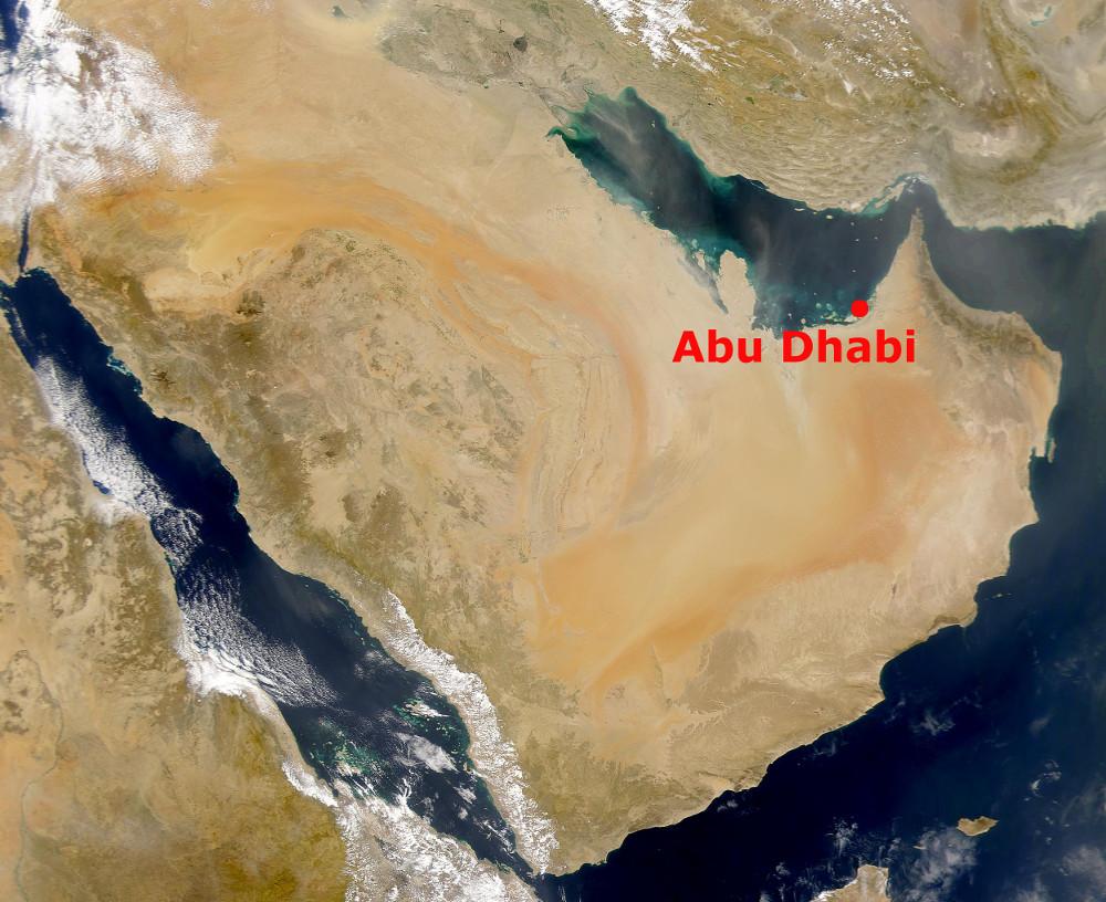 Abu Dhabi helyzete az Arab-félszigeten