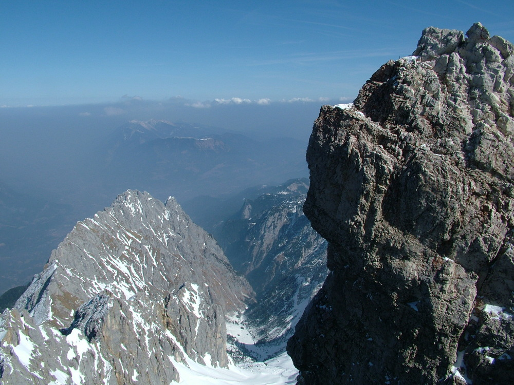 A Zugspitze tetején - Fotó: Barna Béla