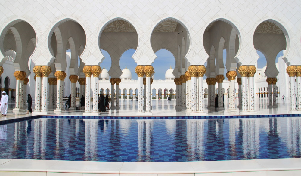 Abu Dhabi nagymecsete - Fotó: Barna Béla