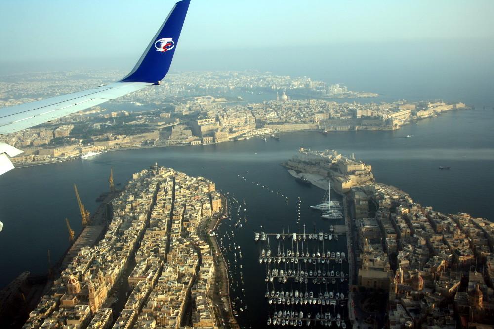 Valetta a repülőből - Fotó: Barna Béla