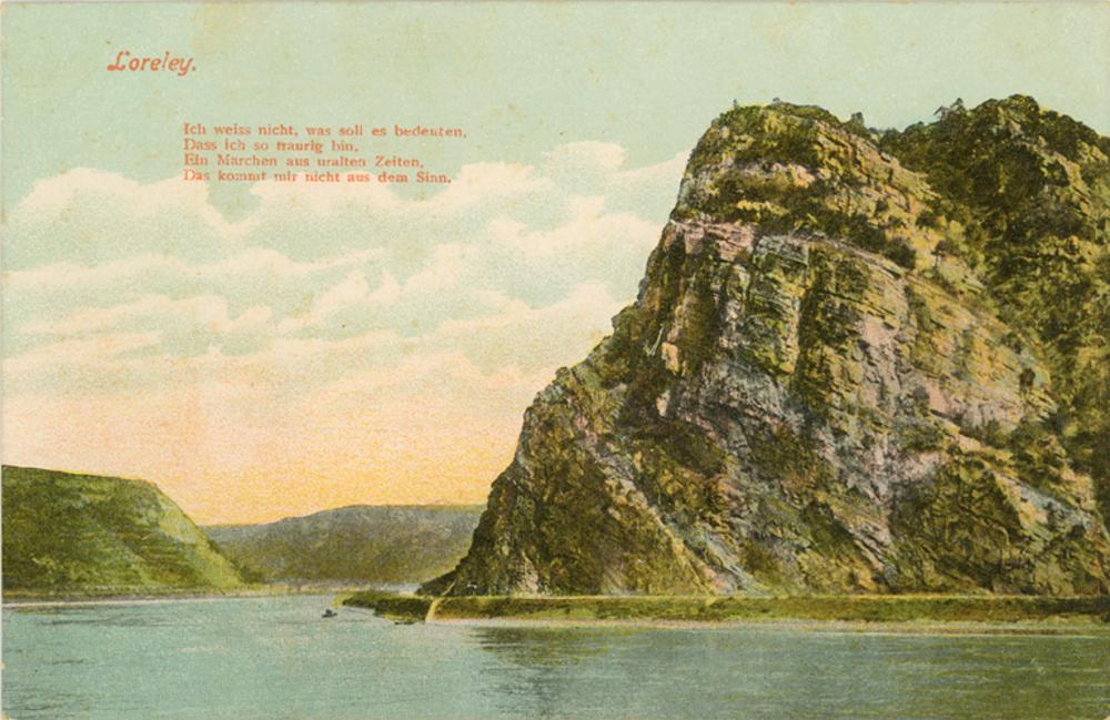A Loreley szikla egy 1906-os képeslapon