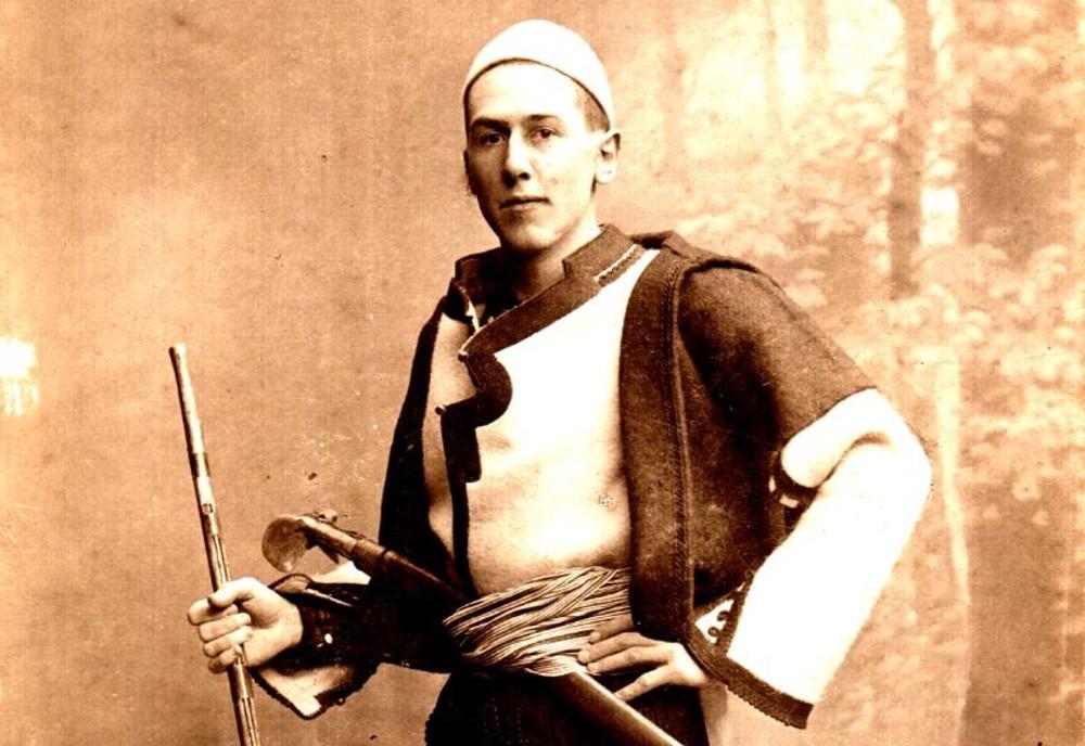 Nopcsa Ferenc albán harci öltözetben