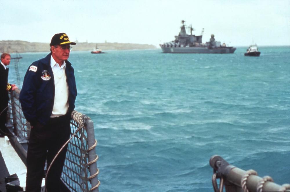 Idősebb Bush elnök Máltán