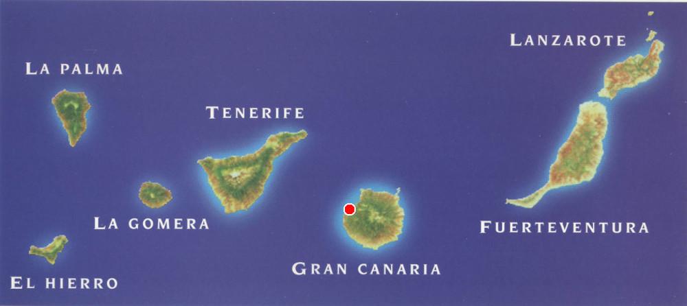 Aldea helyzete a Kanári-szigeteken belül