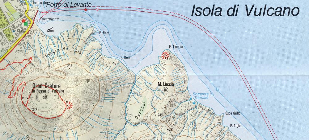Az osztrák Kompass 693-as számú Isole Eólie o Lípari térképe