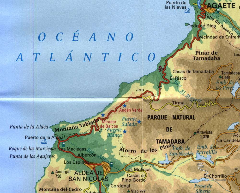 A panorámaút térképe