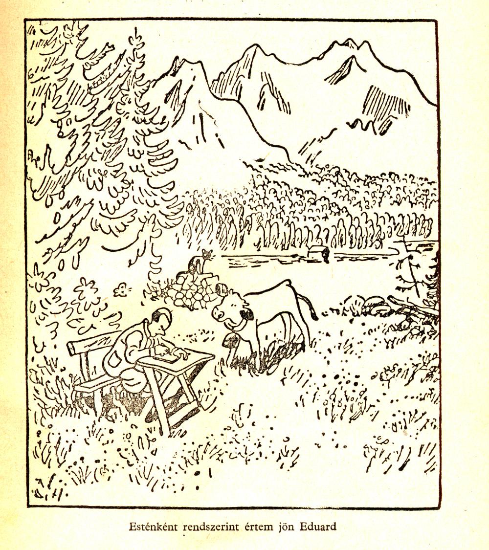 A repülő osztályban a Zugspitze - Walter Trier rajza