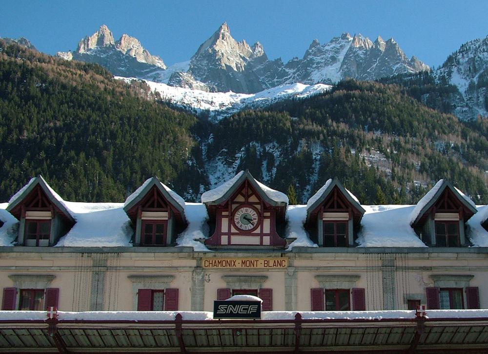 Chamonix Mont Blanc vasútállomás - Fotó: Barna Béla