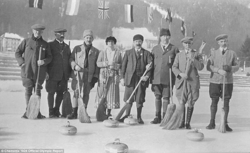 Curling - Chamonix, 1924