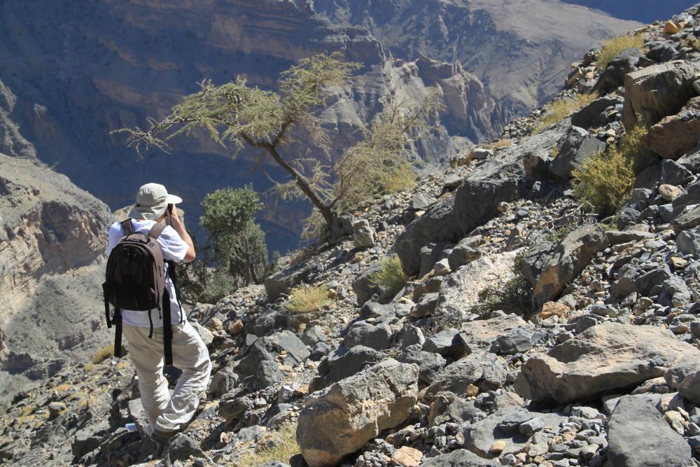 Herpai Imre földrajztanár a kanyonban - Fotó: Barna Béla
