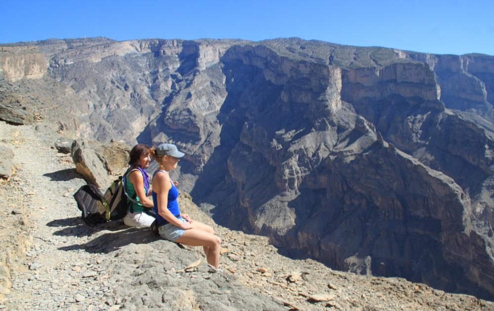 Arábia Grand Canyonjánál ülve - Fotó: Barna Béla