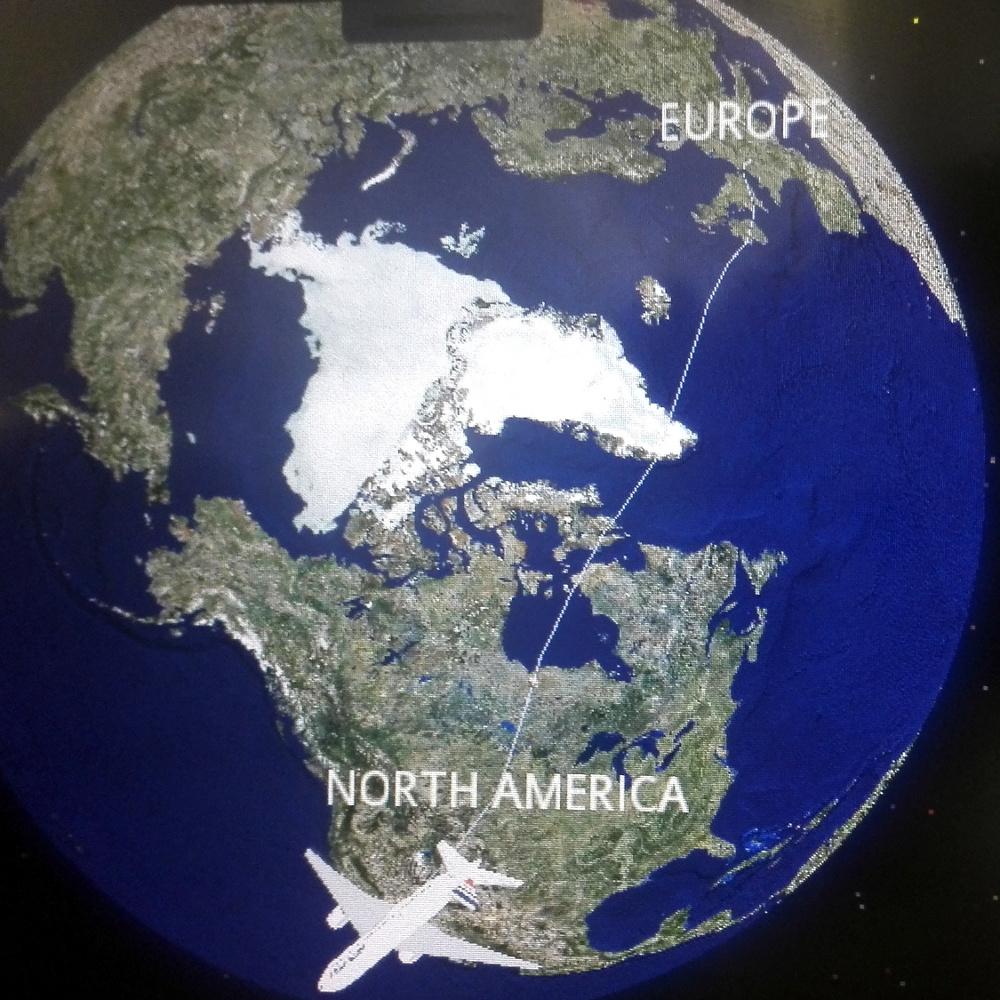Repülőutam 2016. augusztus 22-én Párizsból Grönlandon át Los Angeesbe