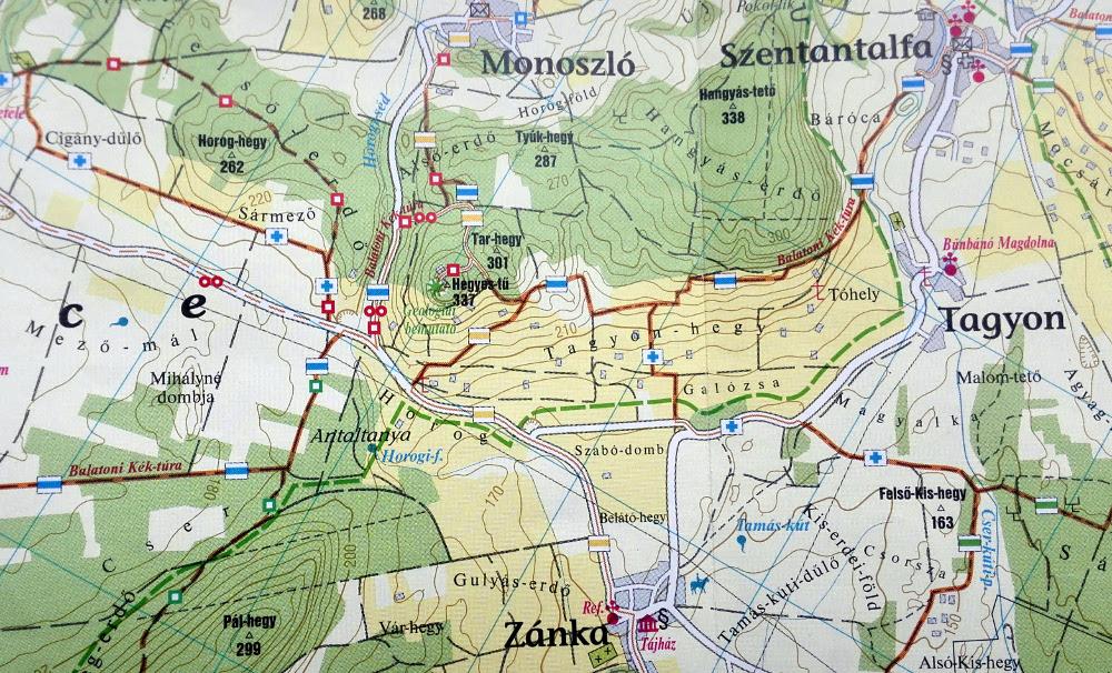 Részlet a freytag&berndt térképéből