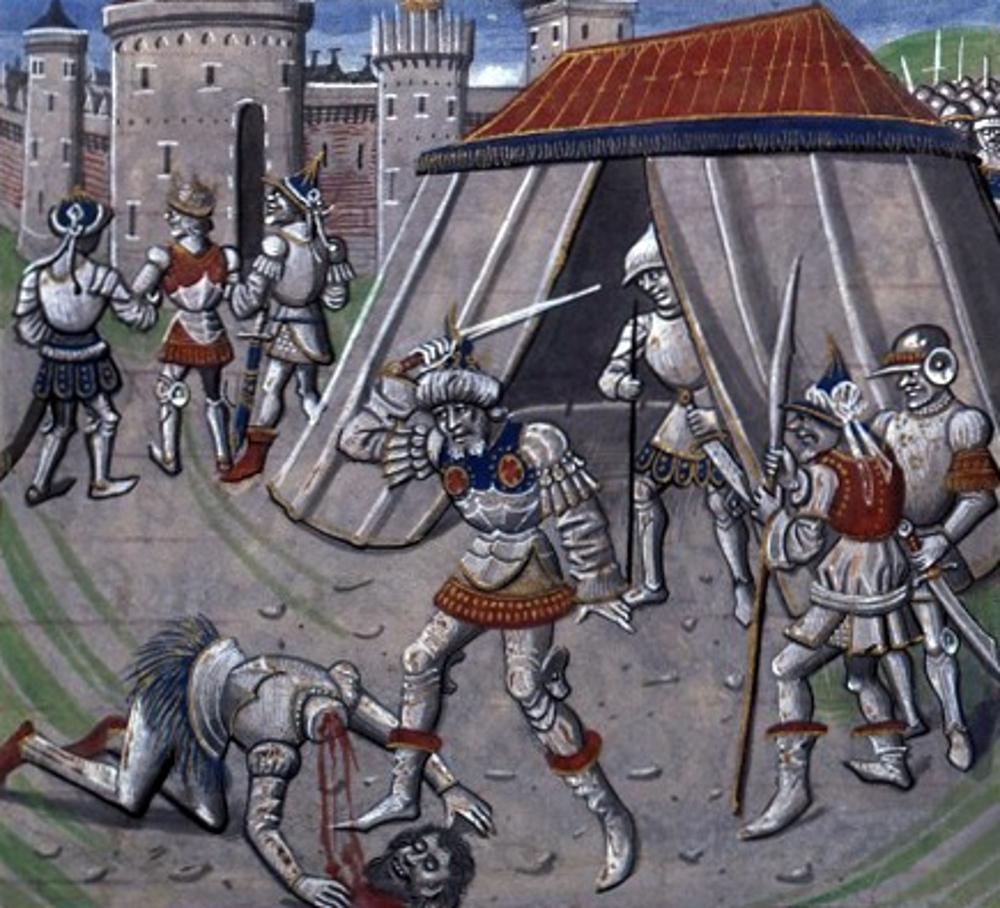 Renaud de Châtillon lefejezése Forrás: Wilhelm von Tyrus