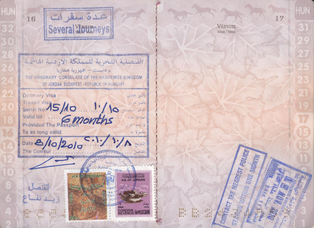 Ne feledjük, Jordániába vízum szükséges!