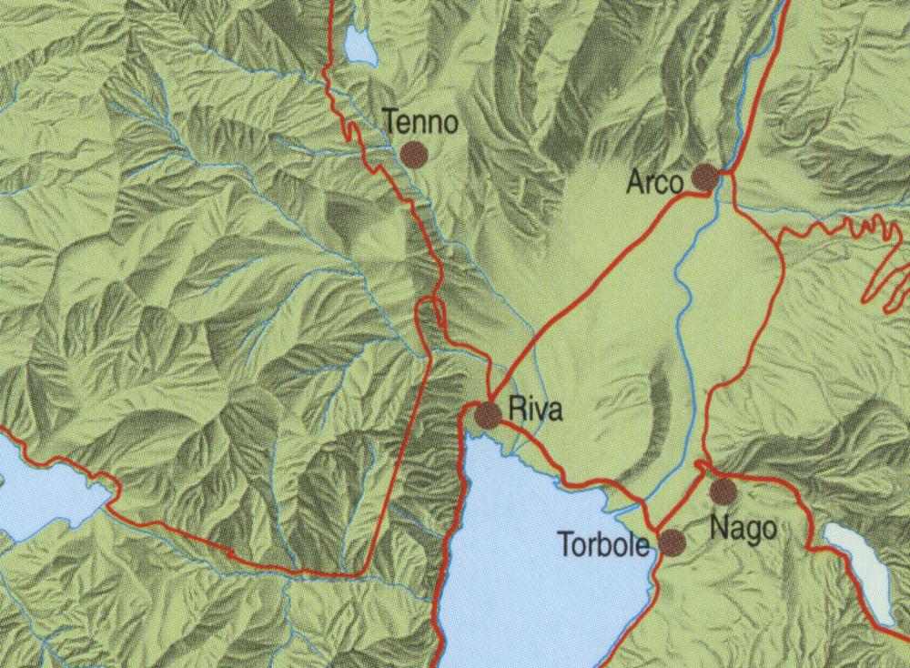 A környék vázlatos térképe