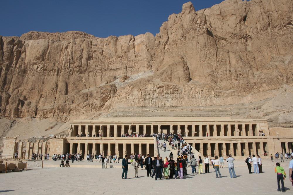 Hatsepszut temploma . Fotó: Barna Béla