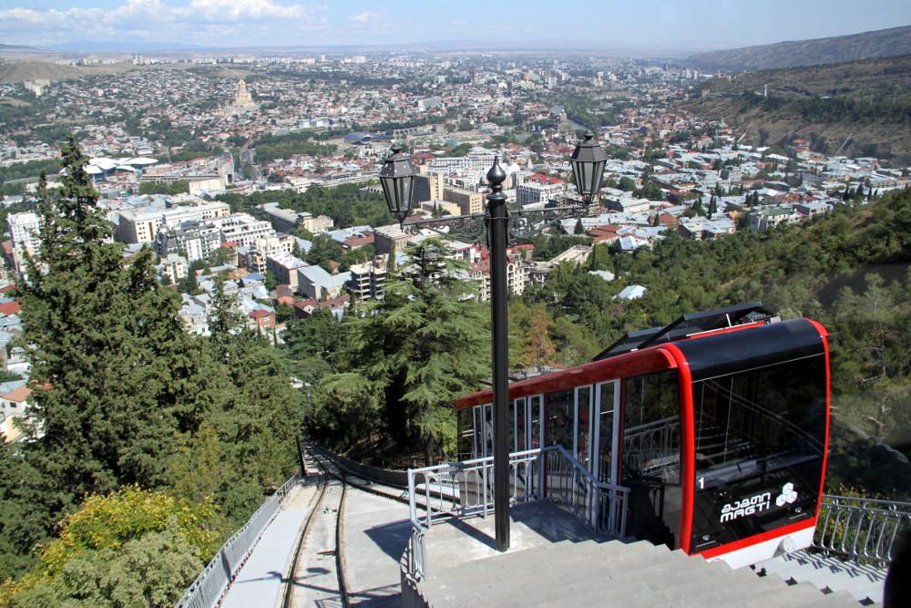 A tbiliszi siklóvasút - Fotó: Barna Béla