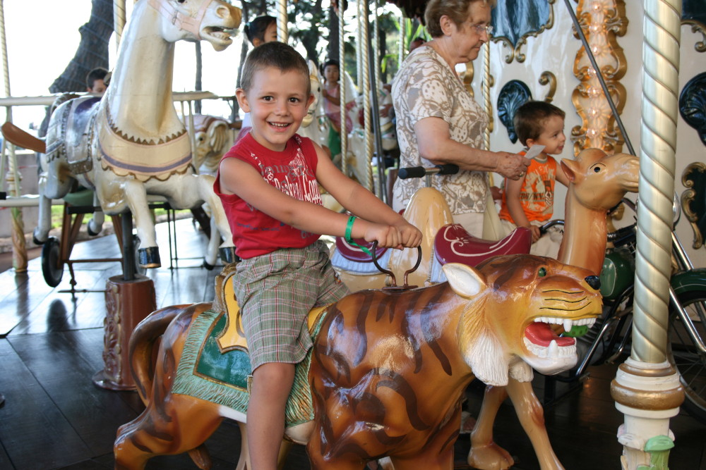 Boldizsár fiam Nizzában 2008-ban - Fotó: Fekete Mona