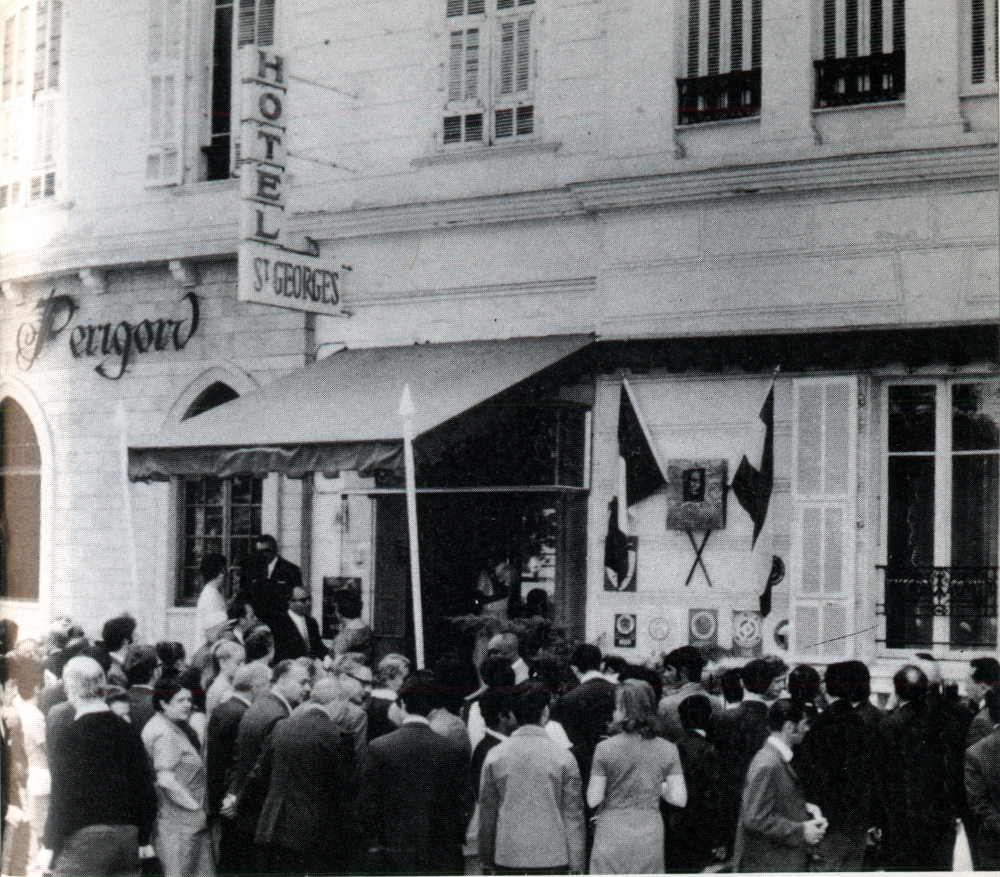 Ady emléktáblájának avatása 1970-ben Nizzában