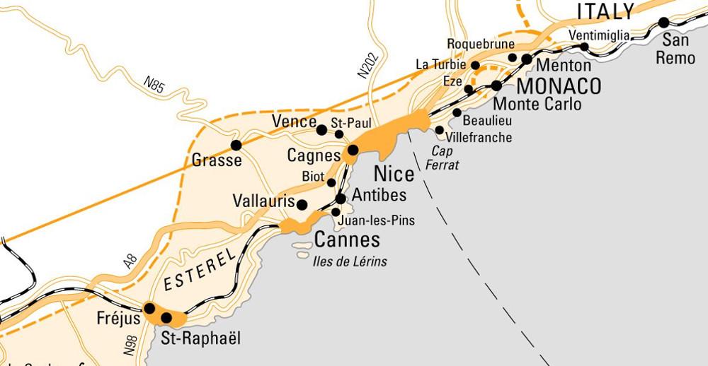 Nizza és környéke