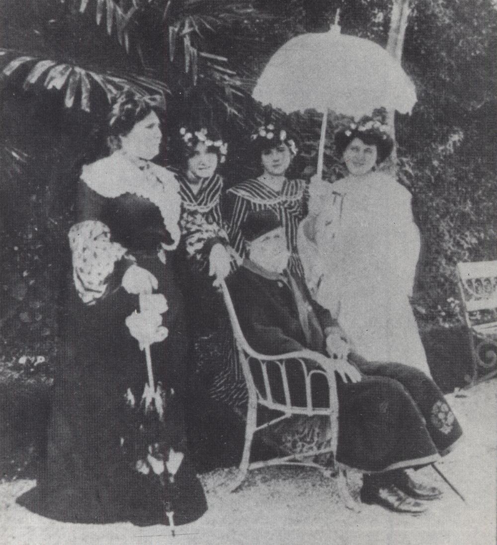 Jókai és családja Nizzában - Fotó 1903-ból
