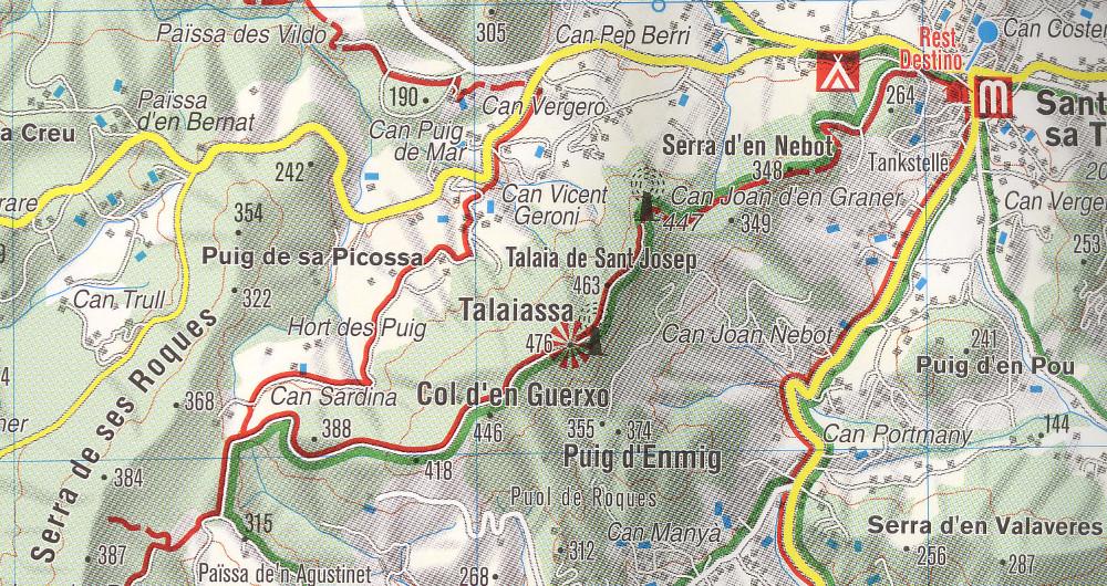 Ibiza teteje az osztrák Kompass turistatérkép 239-es számú kiadásán