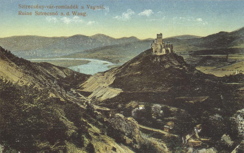 1917-es képeslap Sztrecsényről