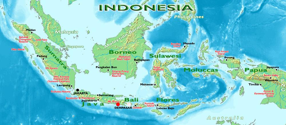 A Bromo helyzete az indonéz szigetvilágban