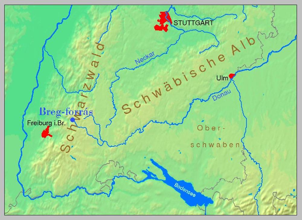 A Duna Igazi Forrasa Furtwangen Bregquelle Csamborgo